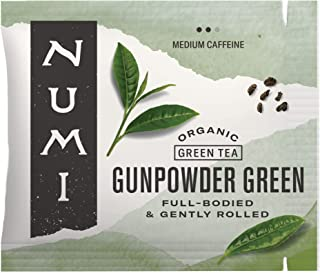 Numi Organic Tea Gunpowder Green, 100 Count (Pack of 1) Box of Tea Bags (Packaging May Vary)