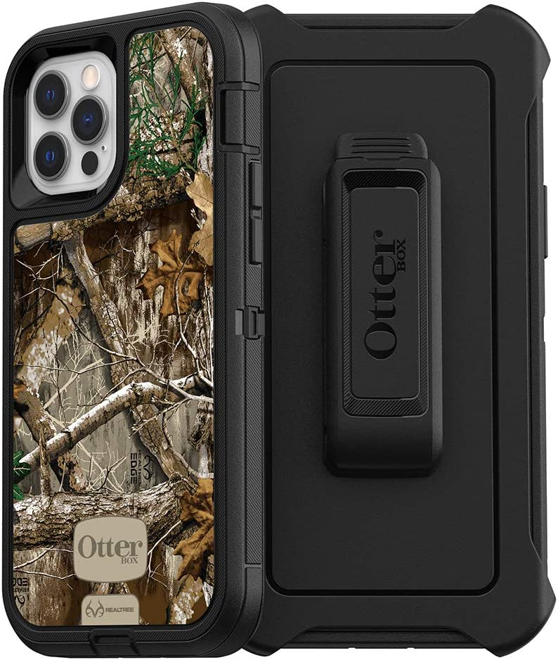 OtterBox Defender Series SCREENLESS Edition Case for iPhone 12 & iPhone 12 Pro - Realtree Edge (Black/Camo)