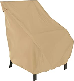 Classic Accessories 58912 Terrazzo Patio Chair Cover,Sand,Standard Dining Chair