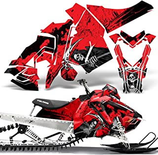 Polaris AXYS SKS Pro RMK Sled Wrap Graphic Kit Stickers Snowmobile REAPER RED