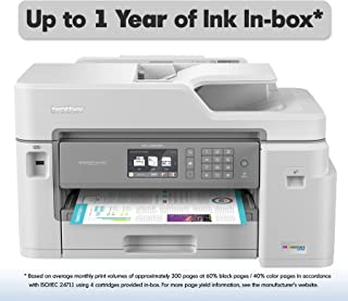 Brother Inkjet Printer, MFC-J5845DW, INKvestment Color Inkjet All-in-One Printer with Wireless, Duplex Printing and Up to 1-Year of Ink In-box, Amazon Dash Replenishment Enabled