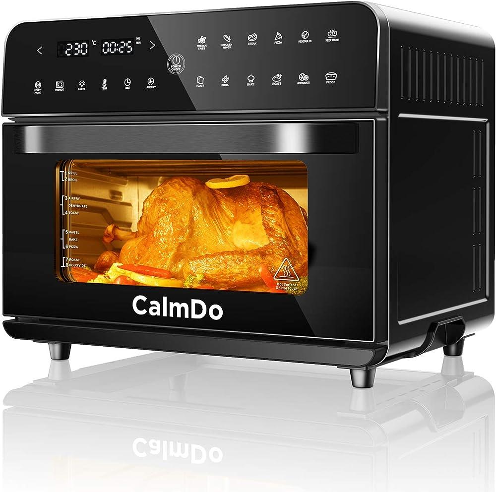 Calmdo, friggitrice ad aria 25l, forno ad aria calda, 12 programmi con touch screen, senza olio CD-AF25-EU