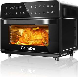 CalmDo Friteuse sans Huile, 25L Four à Air Chaud avec 12 Programmes, 1800W Mini Four Électrique pour Faire Frire, Rôtir, D...