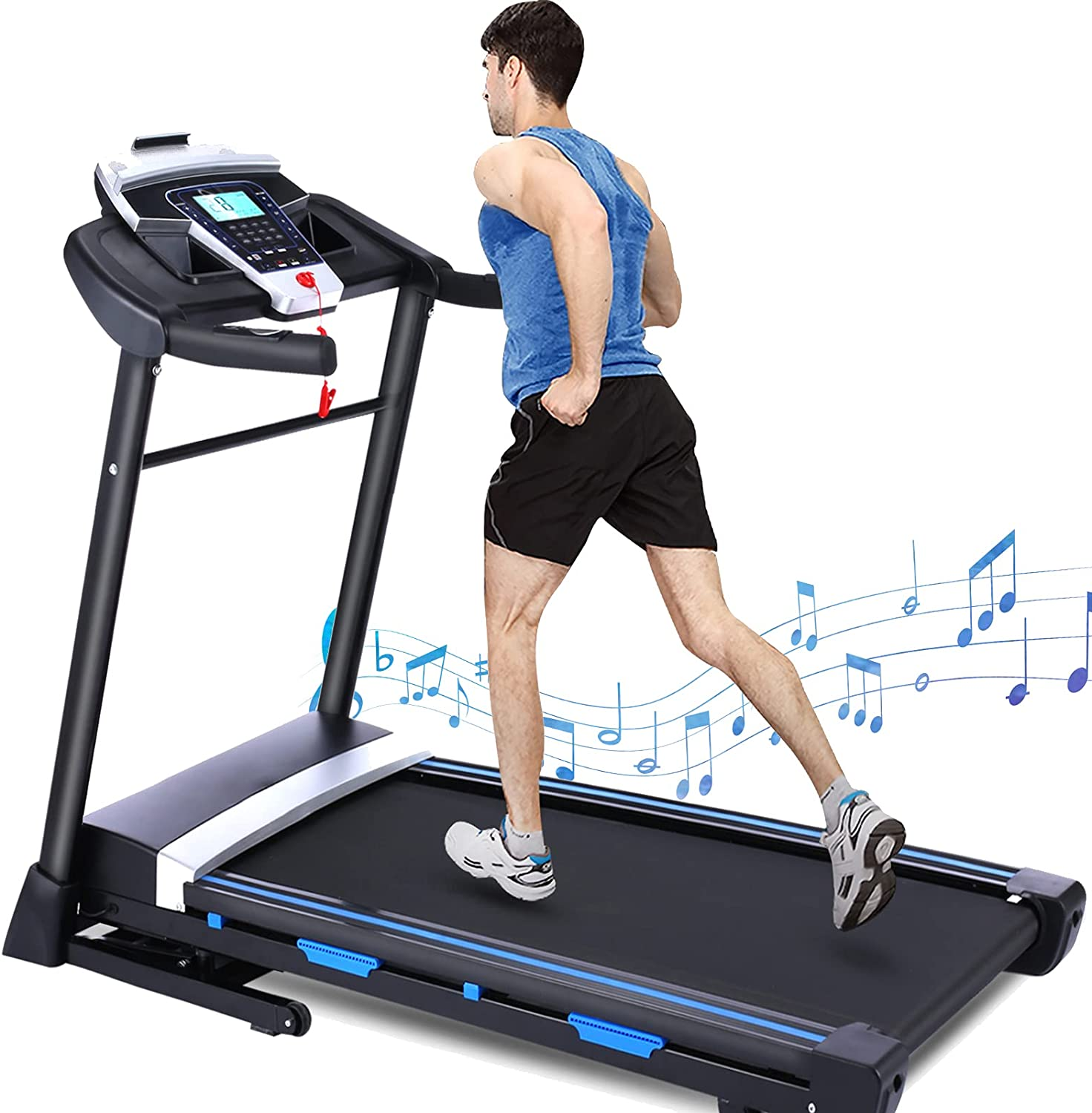 FUNMILY Treadmill with Automatic Incline Capaci San Antonio Mall lbs Bargain sale 300 Weight