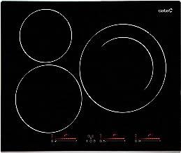 Cata | placa de Inducción | Modelo INSB 6003 BK | 3 Zonas de Cocción | 9 Niveles de Potencia Regulables + Booster | Ancho de 59cm | Color Negro