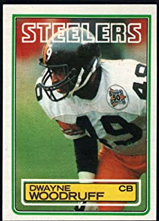 Football NFL 1983 Topps #369 Dwayne Woodruff RC Steelers