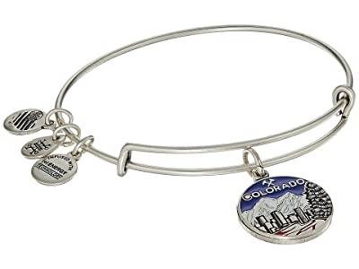 Alex and Ani Places We Love Colorado Bangle (Rafaelian Silver) Bracelet