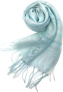 Confiance レディース ストール スカーフ シルク レーヨン UVケア 乾燥対策 クーラー対策 プレゼント