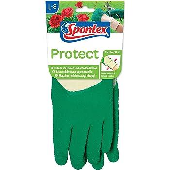 Spontex Protect Gartenhandschuh extra robust für Dornen  Hecken 1 Paar Gr L