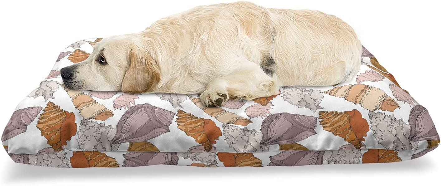 Popular shop is the lowest price challenge Ambesonne Shells Pet Bed Pastel of Tropical Design Pattern Moll Ranking TOP12