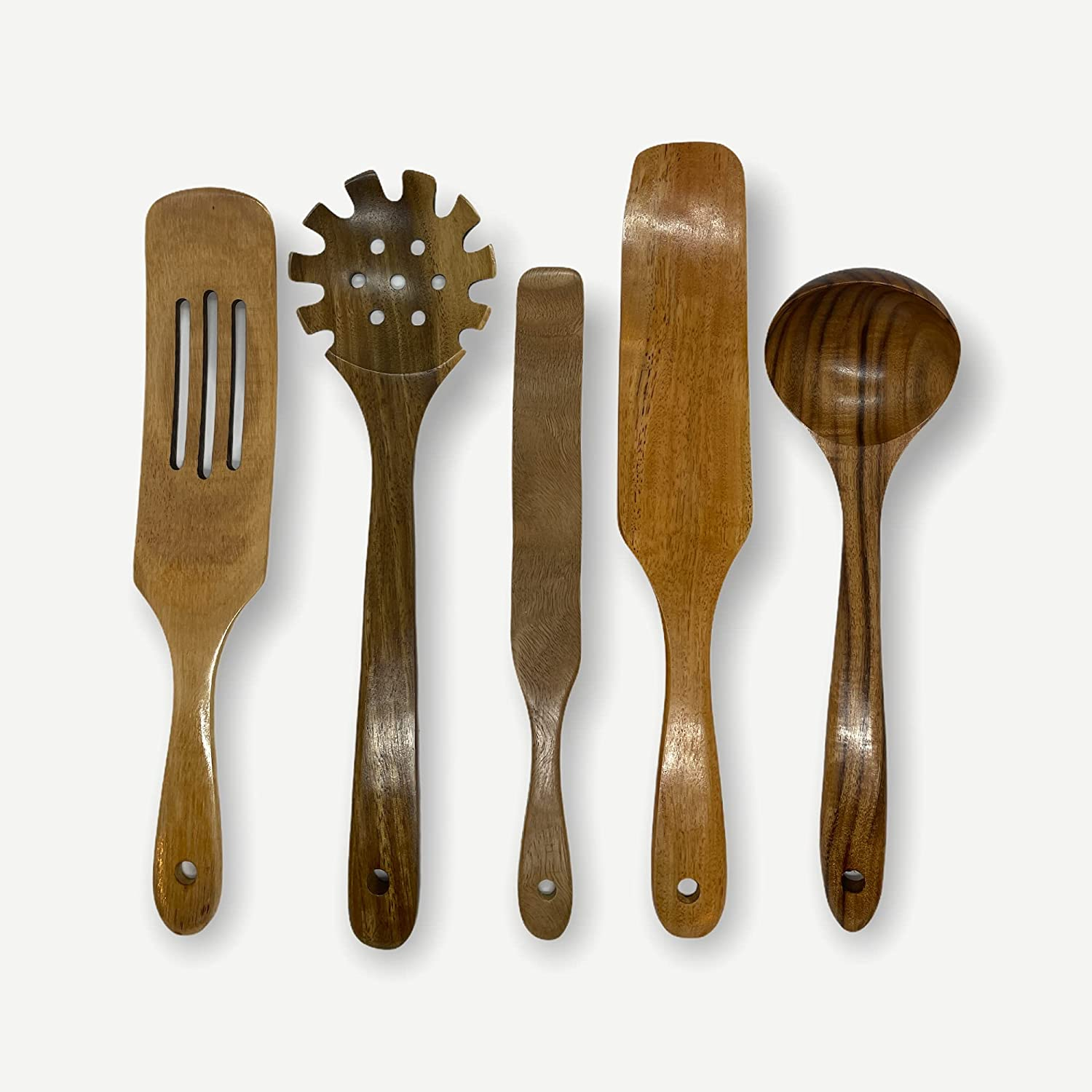 Regular discount Jenwa's- 5pcs Wooden New Free Shipping kitchen utensil set M For Hanging Hole With