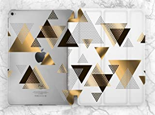 Geometry Black And Gold Triangle Case For Apple iPad Mini 1 2 3 4 5 iPad Air 2 3 iPad Pro 9.7 10.5 11 12.9 inch iPad 9.7 inch 2017 2018 2019