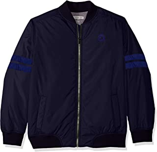 Big Boys' Varsity Track Jacket, Navy, Medium (10/12)