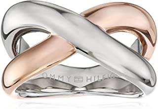 Tommy Hilfiger 女士镀金不锈钢平滑扭戒指 - 尺码 E