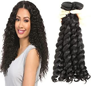 Hairticket 3 Bundles French Twist Curly Virgin Brazilian Hair Natural Color / 16inches