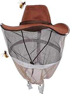 Professional Beekeeping Hat Beekeeper Cowboy Hat Anti Mosquito Bee Insect Veil Net Hat Full Face Neck Wrap Protector Beekeeping Equipment