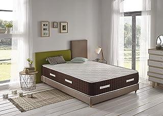 Colchón Viscoelástico Alta Gama Luxury Visco 30, con Tratamiento Sanitized, Reversible Invierno/Verano, 135x180 cm