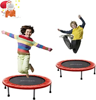 ANCHEER 38-40Inch Foldable Trampoline Rebounder, Quiet and Safe Bounce Spring Mini Bouncer Fitness Trampoline Rebounder for Kids Adults in Home/Garden/Office Cardio Trainer