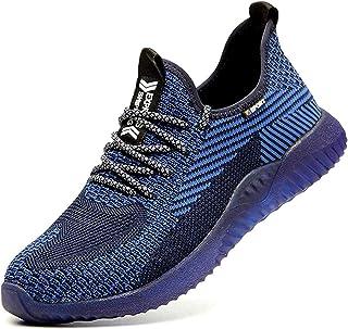 Zapatos de Seguridad para Hombres ultraligeros Zapatos de Acero con Punta de Seguridad, Zapatillas industriales Transpirab...