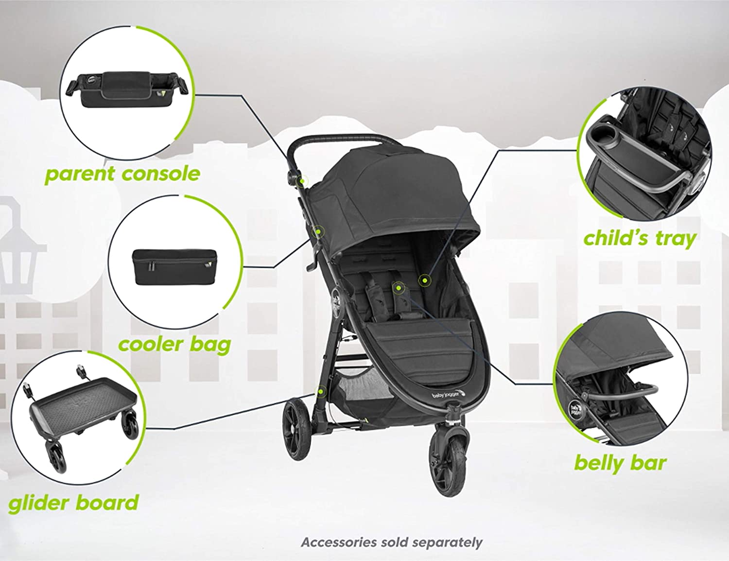 Baby Jogger Child Tray for City Mini 2 and City Mini GT2 Strollers, Black