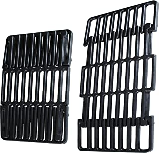 """soldbbq 8"""" Width Adjustable Porcelain Cast Iron Grid Section,BBQ Replacement Parts for Grill Models byTraeger,Pit Boss, Charbroil,Weber,Kenmore and Others, Adjust Length from 14"""" to 19.5"""""""