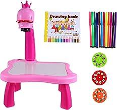 Projetor de mesa de aprendizagem VICASKY para crianças com desenho e mesa de escrita para crianças e meninos e meninas, fe...