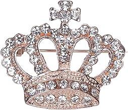 Thobu Fashion Rhinestone Style Brooch Pin Crown Design Breastpin Vintage Wedding Gift