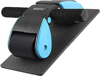 腹筋ローラー Hutbit アブホイール エクササイズウィル スリムトレーナー 超静音 滑り止め 耐磨耗 握りやすい 膝を保護するマット付き 221759