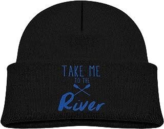 ADGoods Kids Children Take Me to The River Kayak Beanie Hat Knitted Beanie Knit Beanie For Boys Girls Gorra de béisbol par...