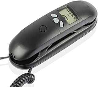 Corded Telephone with Caller ID, Easy to Operate, Wall-Mountable, One Key Redial, Flash, Mute, Pause, Hold, Reset, Easy to...