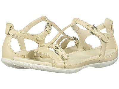 ECCO Flash Buckle Sandal (Vanilla Metallic) Women