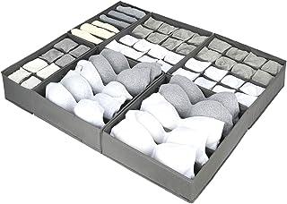 Lot de 6 Tissu Oxford Organisateur Tiroir à Compartiment Elargis , Pliable Rangement Sous Vetement Organisateur de Tiroir ...