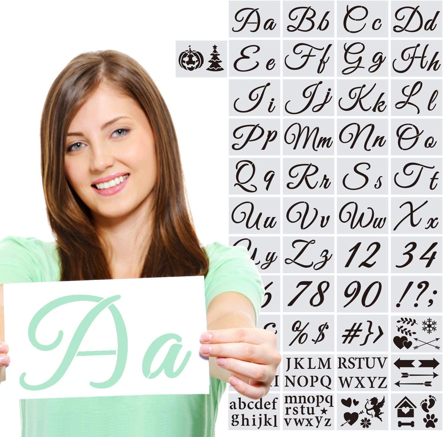 45 Max 42% OFF Larger Alphabet Letter Stencils Number Reusable Temp Today's only Plastic