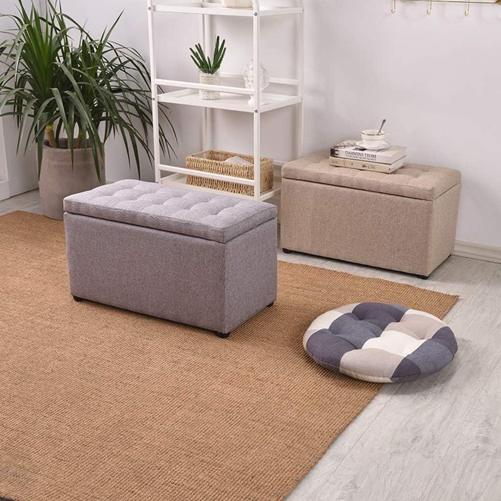 XiuHUa Tabouret de rangement rectangulaire ottoman tabouret de rangement simple et moderne pour salon canapé tabouret à chaussures Décoration de la maison (couleur : 2) 6