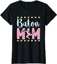 Womens Baton Mom T-Shirt - Mother Of Twirler Or Baton Majorette