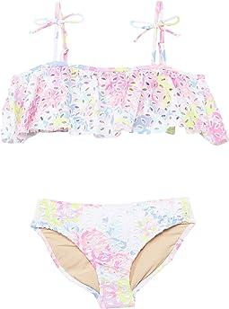 Off-the-Shoulder Bikini - Floral Eyelet (Toddler/Little Kids/Big Kids)