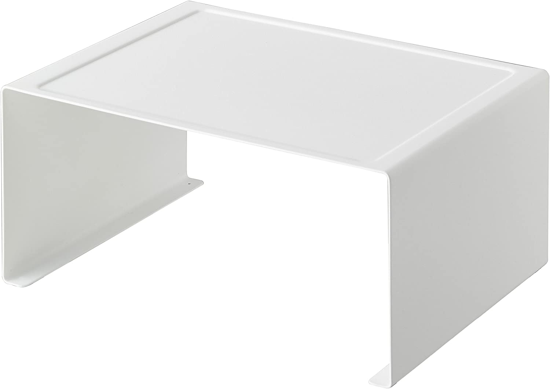 Yamazaki Home Tower Stackable Kitchen Rack Storage Organizer Counter Shelf, Large, White