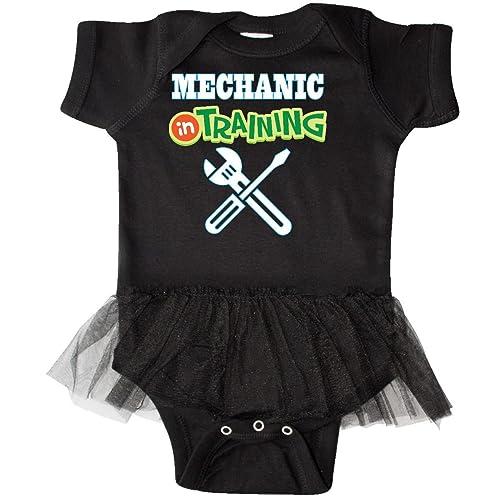 1f583e710d inktastic - Mechanic in Training Infant Tutu Bodysuit
