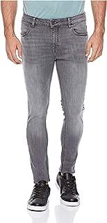 Lee Cooper Slim Fit Embellished Denim Jeans for Men - Grey