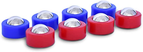 GoSports Shuffleboard and Curling Mini Rollers Replacement Set of 8 Rollers