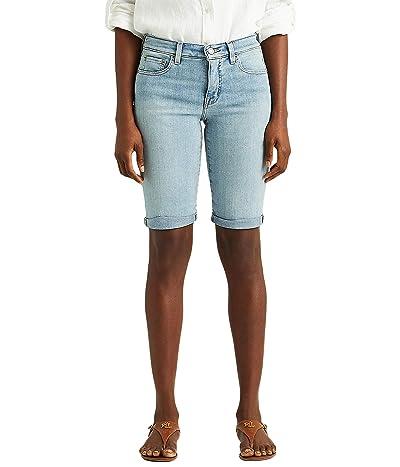 LAUREN Ralph Lauren Cuffed Denim Bermuda Shorts Women