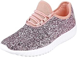 hot pink glitter sneakers