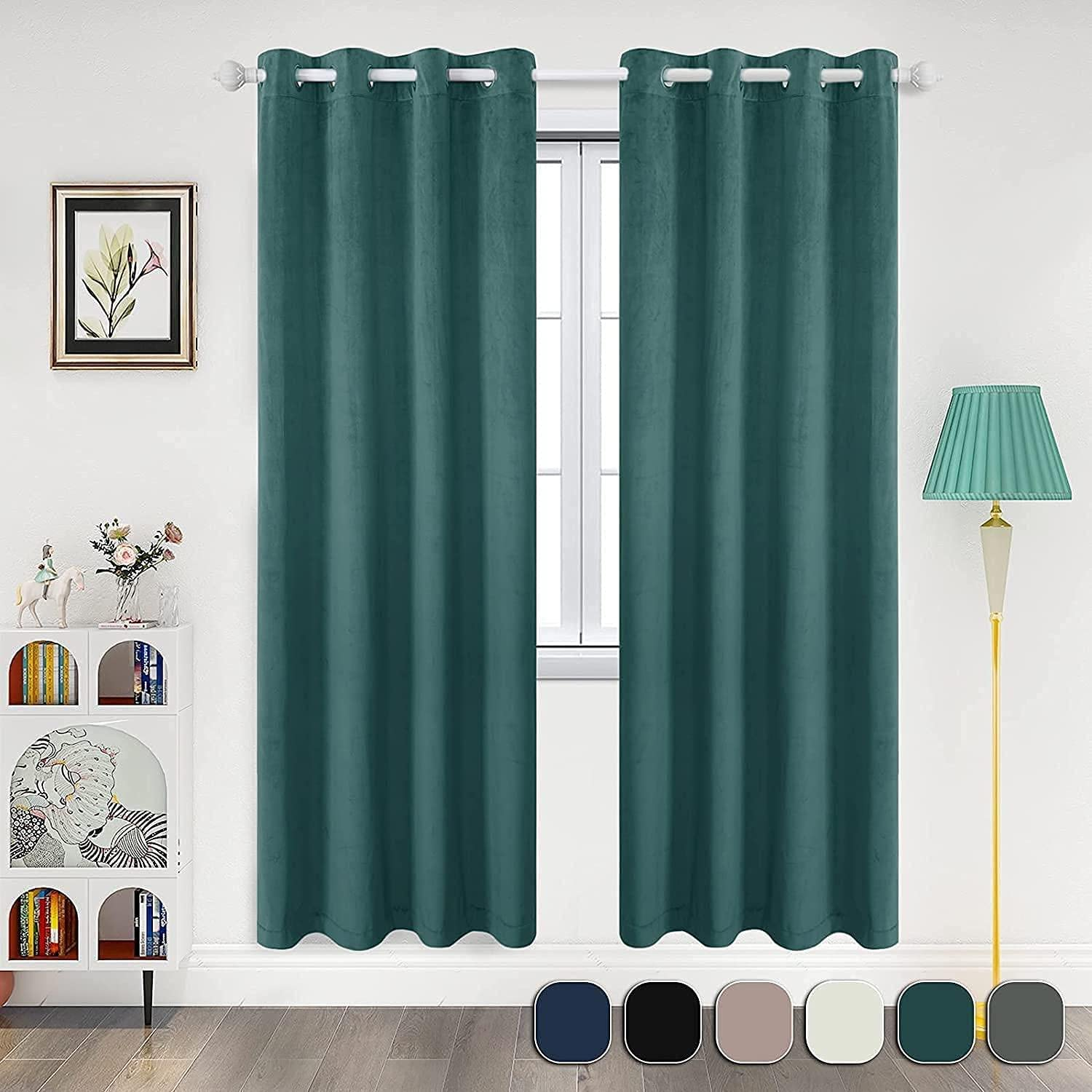 YXJD Blackout Max 49% OFF Velvet Curtains for and Living Room Max 82% OFF Bedroom Therma