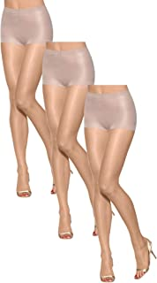 Women Set of 3 Silk Reflections Ultra Sheer Toeless Control Top Pantyhose