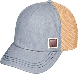 straw baseball cap with cotton brim