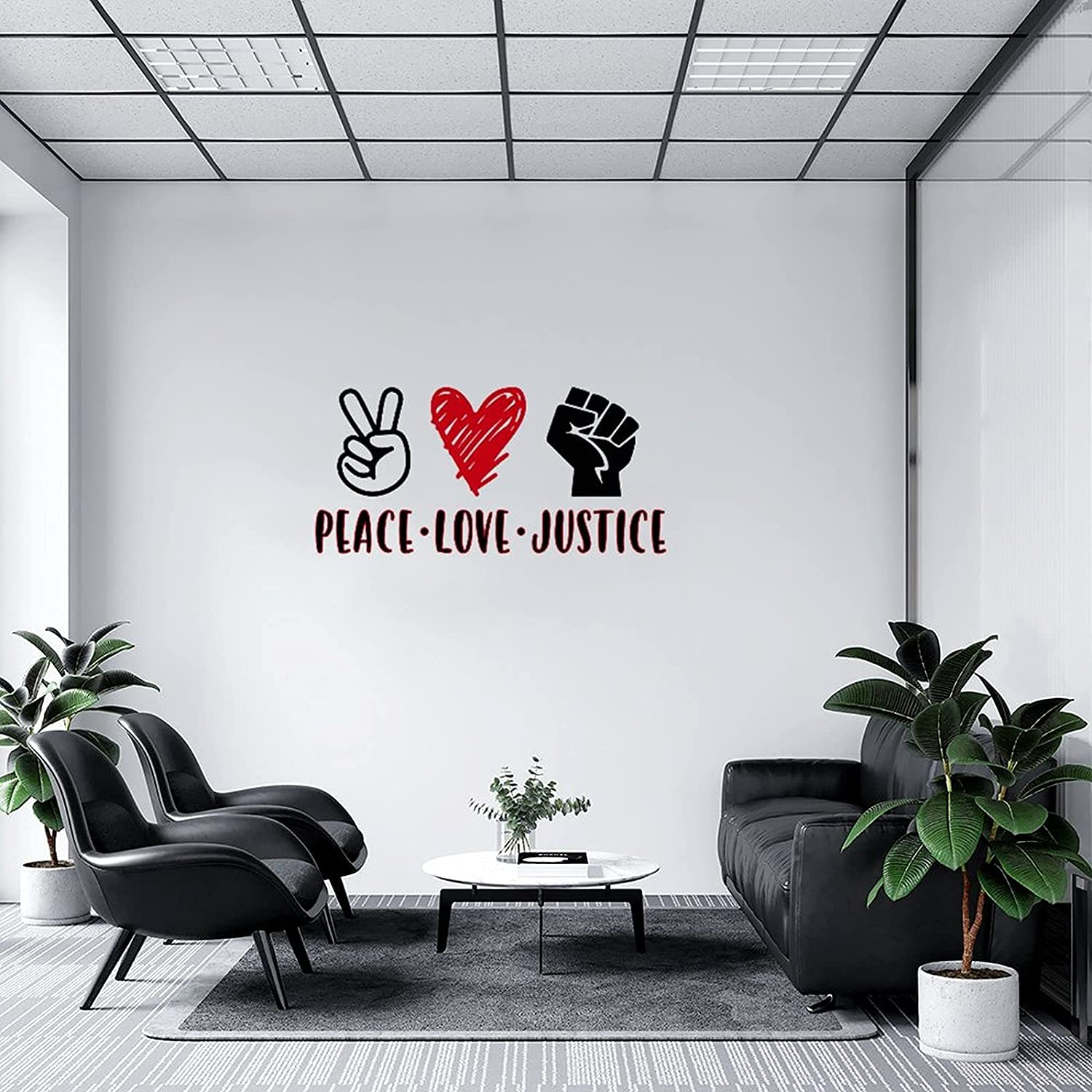 Wall Decal Peace Love Justice Bedroom Girls Decor New Shipping Free Shipping Austin Mall Room for