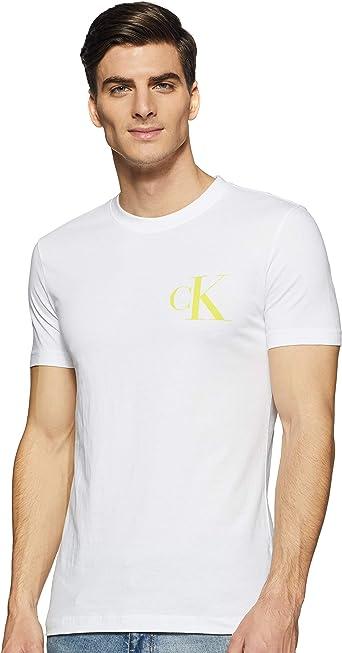 Calvin Klein Instit Back Pop Logo Slim tee Camiseta para Hombre