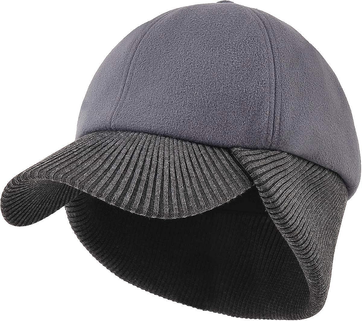 New arrival LCZTN Wool Winter Baseball Excellence Cap with Earflap Men Warmer for ï¼Â