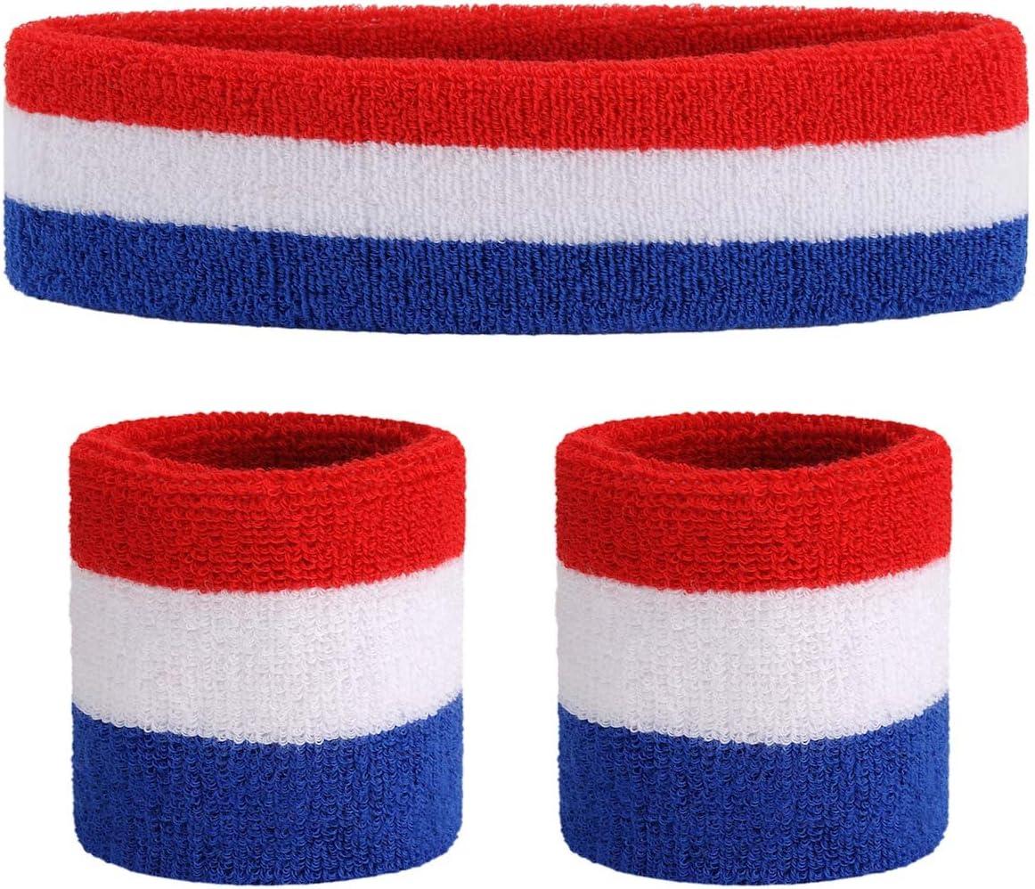 ONUPGO Ranking TOP20 Sweatband Set Sports Wristband Te Sweatbands Headband Tampa Mall