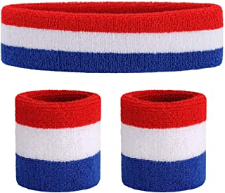 ONUPGO Sweatband Set Sports Headband Wristband Set...